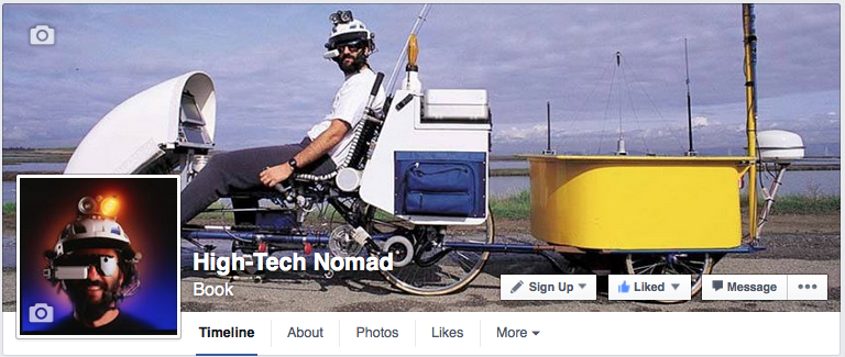 High Tech Nomad page on Facebook