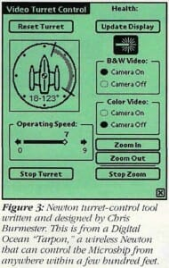 Microship video turret Newton control tool