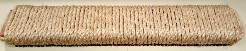 Sisal wrapped two-by-four